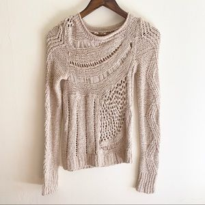 Moth - Mixing drop stitches sweater